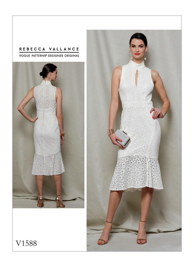 d57e27d9b76d Sewing Pattern for Misses  Lined Lace Dress Vogue Pattern