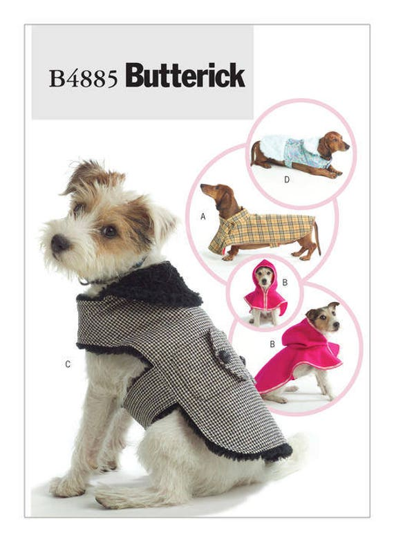 Sewing Pattern for Dog Coats in Four Styles Butterick Craft