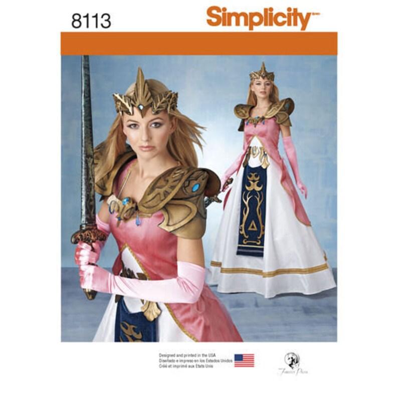 aba8bd3f8 Sewing Pattern Warrior Princess Zelda Costumes Fantasy | Etsy