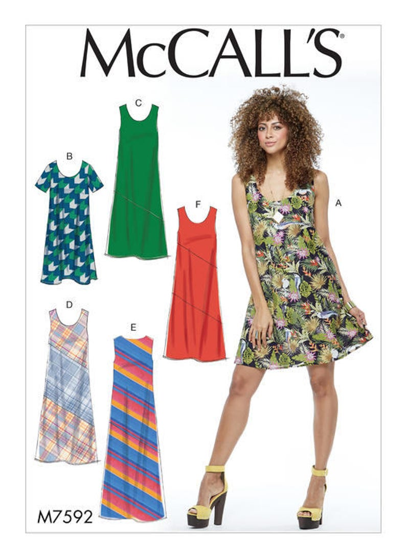 3d05efa4d51 Sewing Pattern for Womens Summer Dress Misses Pullover