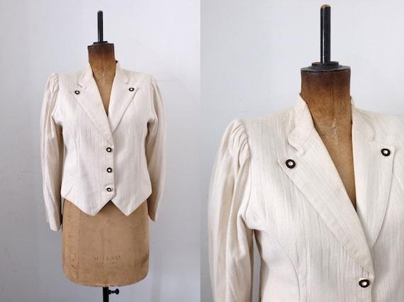 Vintage 'Alpen Trachten' Austrian Cotton Jacket