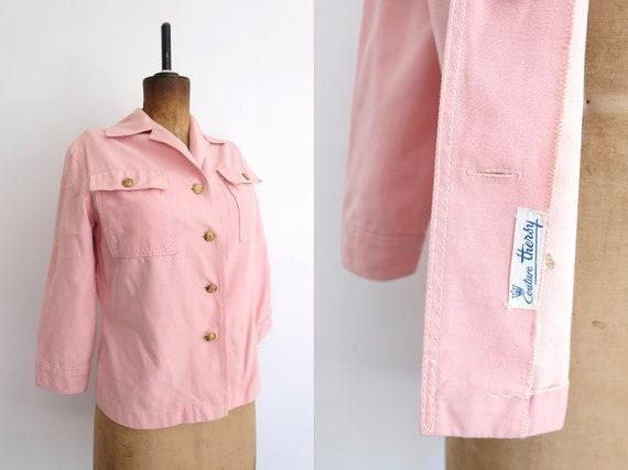 Vintage 60s Baby Pink Denim Jacket