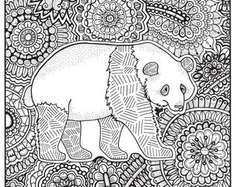 Panda Coloring Pages For Adults Www Bilderbeste Com
