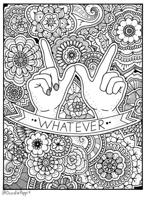 whatever coloring page coloring book pages printable adult