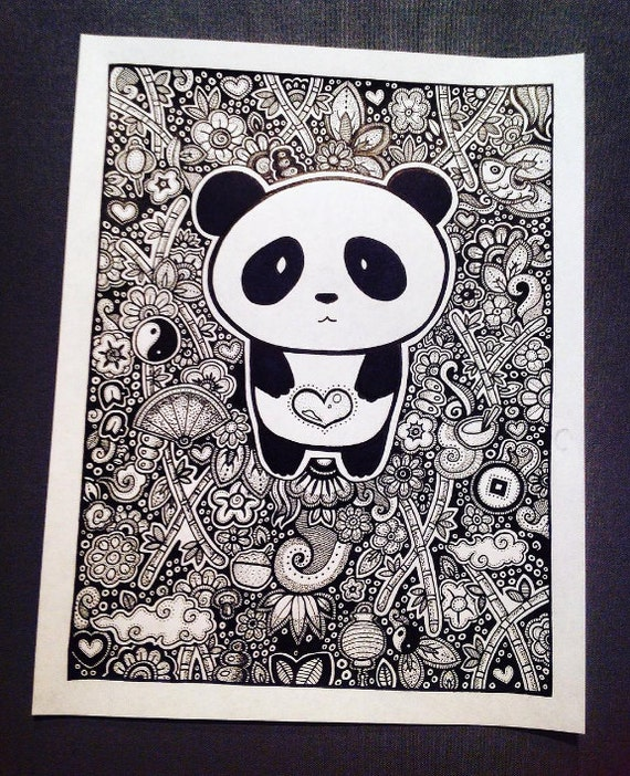 PANDA Coloring Page, Coloring Book Pages, Printable Adult Coloring, Hand  Drawn, Doodle, Art Therapy, Instant Download Print