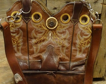 d25e5c81a60 Cowboy boot purse | Etsy