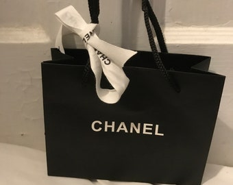 e3d0afebadf4 CHANEL NEW Black Tote Gift Shopping Bag & White CHANEL Ribbon Great for  Easter Birthday Mother's Day Anniversary Wedding Shower