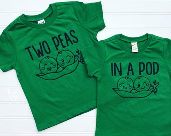 Two Peas In a Pod, Sibling Shirts, Matching Shirts, Sibling Photos, Twins Shirts, Shirts for Twins, Shirts for Siblings, Siblings, Twins