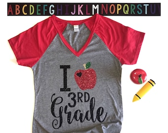 Teacher Tshirt - Teacher Shirt - Teaching - Shirt for Teachers - Teacher Gift - Gift for a Teacher - Teacher Appreciation - Apple Shirt
