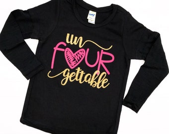 UnFOURgettable Four Years Old Fourth Birthday 4th Shirt 4 Bday