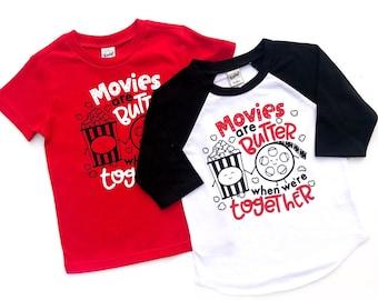 5f58b3ba Movies are Butter - Popcorn Shirt - Movies Shirt - Movie Lover - Popcorn  Tshirt - Popcorn Party - Movie Night - Junk Food