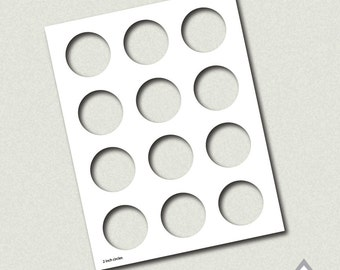 1 5 Inch Circle Template Party Printable Template Png Etsy