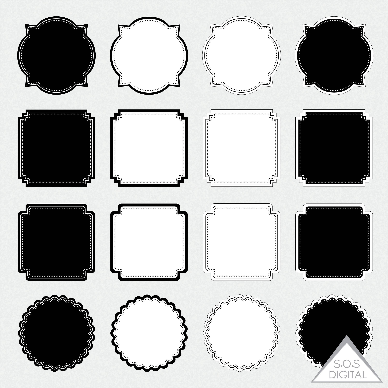 Einfache digitale Bilderrahmen quadratische Rahmen Tafel   Etsy