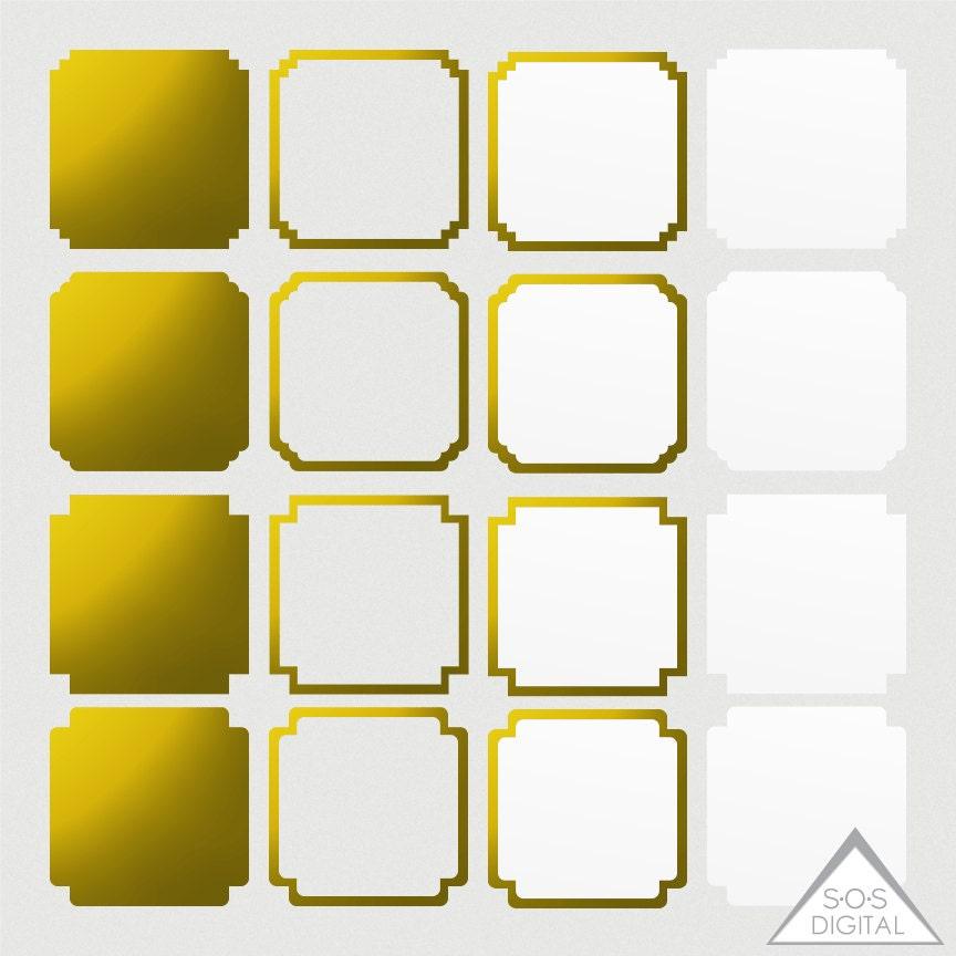 Goldfolie Frames Quadrat digitale Bilderrahmen Tribal | Etsy