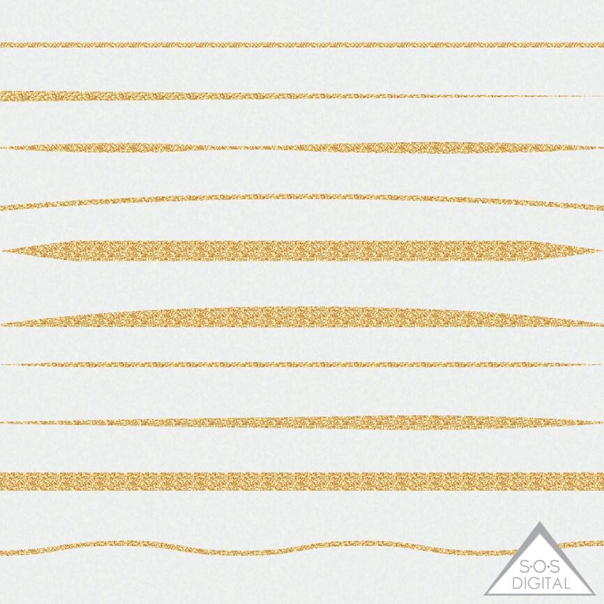 Gold Glitter Rahmenlinien Basic Gold Grenzen 12-Zoll-Grenze   Etsy