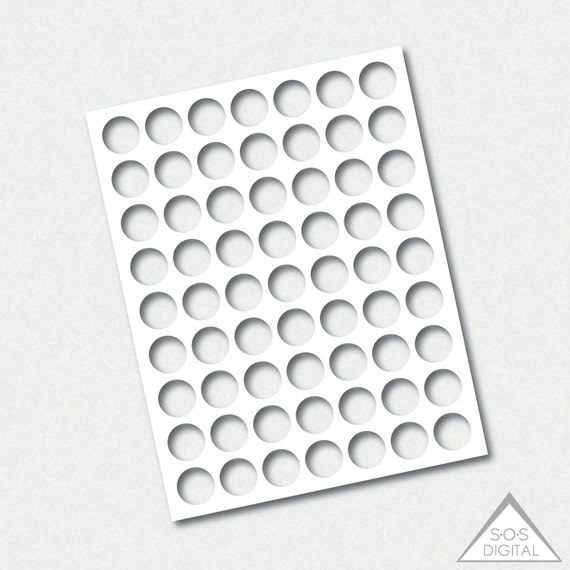1 Inch Circle Template Party Printable PNG