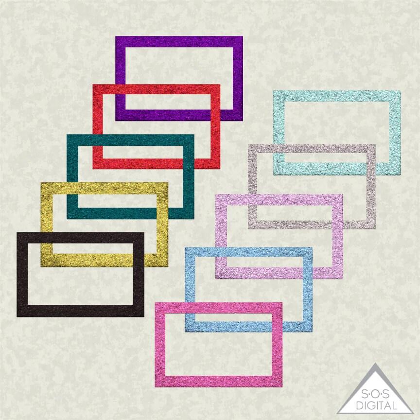 Digitale Bilderrahmen Glitter-Rahmen Clipart-Bilder Glitter   Etsy