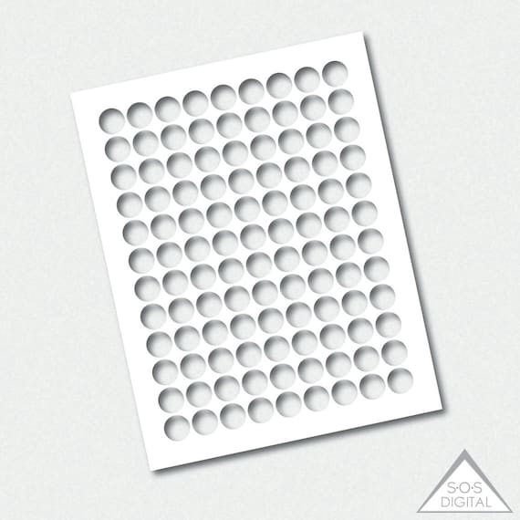 Hershey Kiss Template 34 Circle Template 75 Etsy