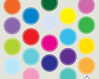 Bright Circle Frames, Circle Frame, Clipart Frames, Primary Color Frames, Basic Circle Frames, Clipart Circles, PNG Files, Commercial Use