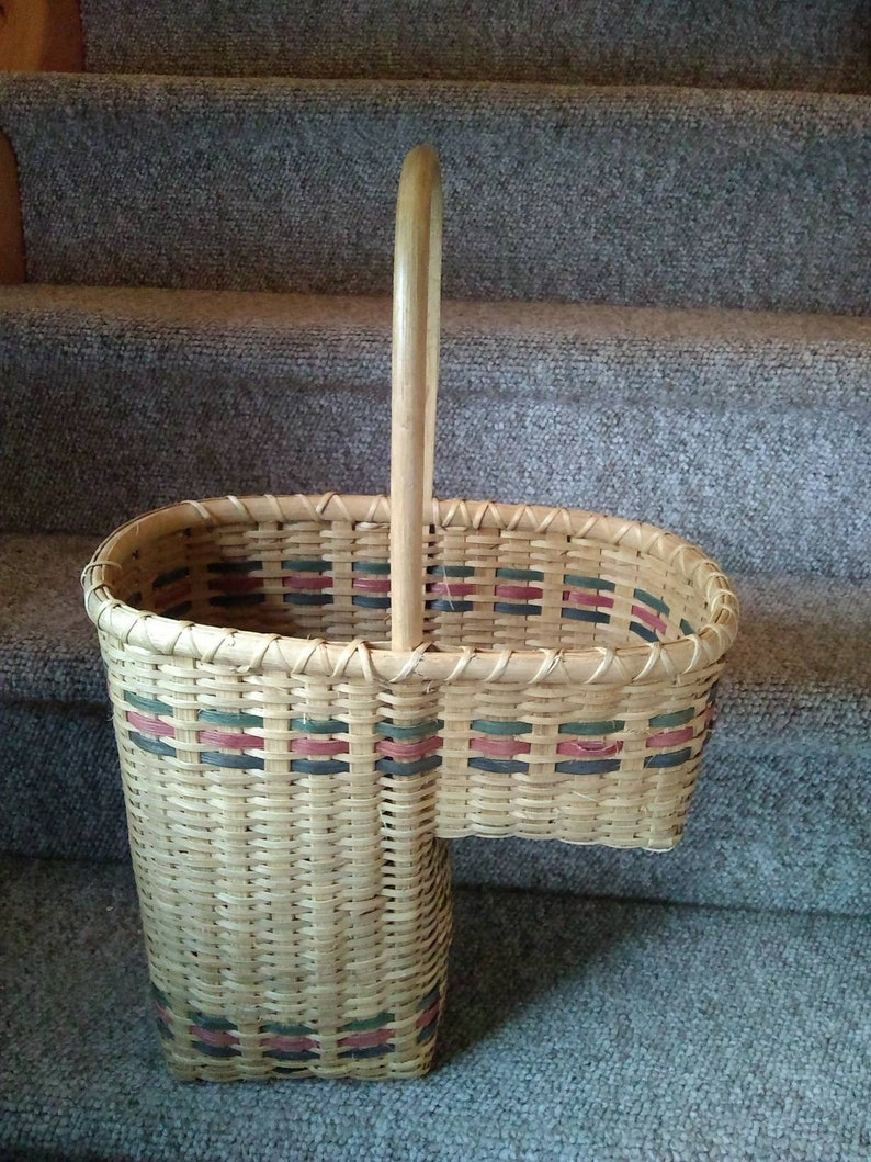 Superieur Vintage Wicker Stair Basket With Handle Wicker Storage Basket Wicker Stair  Case Basket