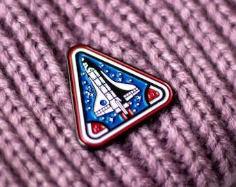 ebad8b4e NASA Space Shuttle Enamel Pin - 1