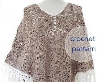 Pattern Hooded Poncho Chunky Poncho Shawl Scarf Pattern Etsy