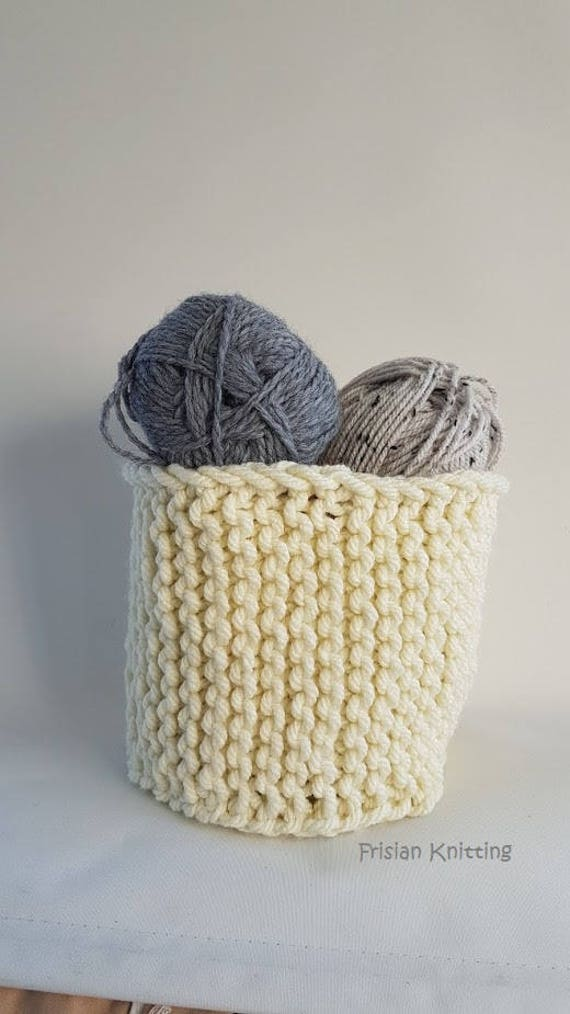 Knitted And Crochet Pattern Basket Crochet Basket Etsy