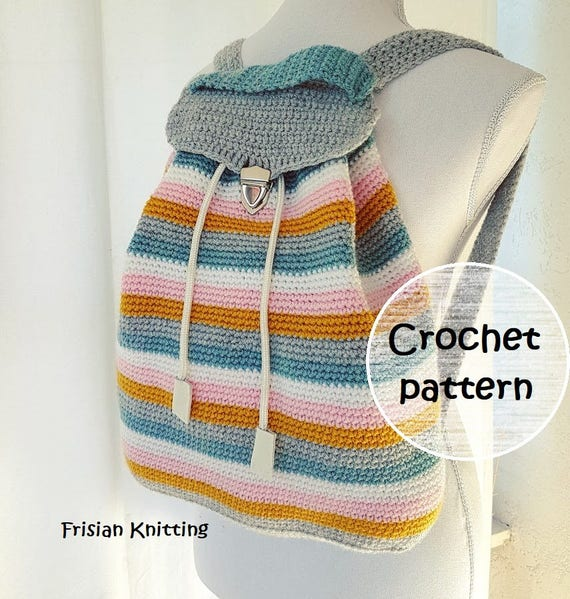 Crochet Pattern Backpack Crochet Crochet Pattern Bag Crochet Etsy
