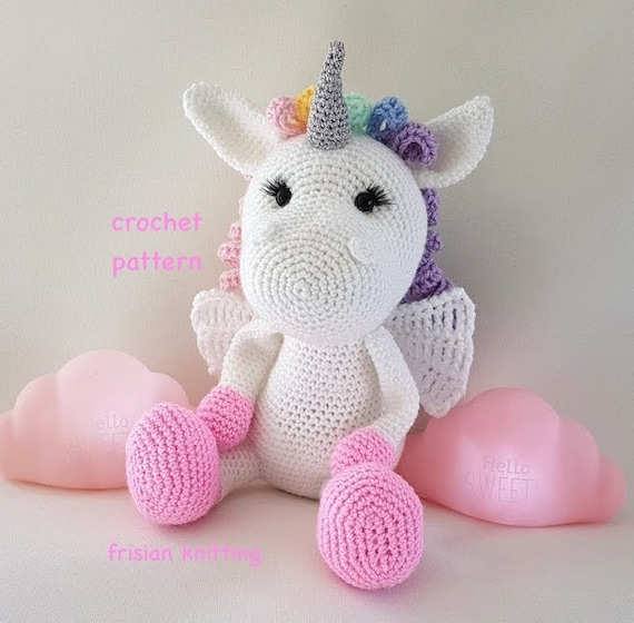 Haakpatroon Eenhoorn Nederlands Haakpatroon Unicorn Etsy