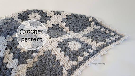 Pattern Granny Blanket Crochet Pattern Baby Blanket Etsy