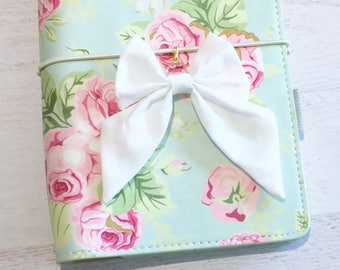 White Bow Planner Charm   Travelers Notebook Charm Bow   Fabric Bow Charm   Planner Bow   Planner Accessory