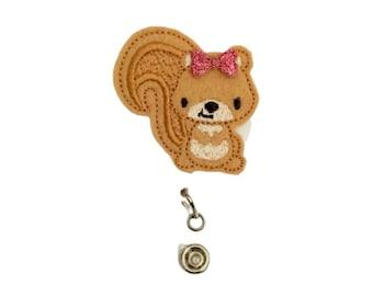 Squirrel Badge Reel, Planner Clip, ID Holder, Magnet, Brooch , Badge Reel Topper, Badge Pull, Name Badge Holder (987)