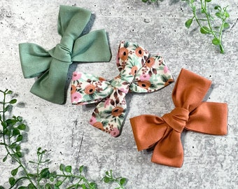 Sienna Bow Nylon ******SEE ITEM DETAILS!! Clip Hairband Piggies Headwrap