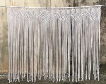 Macrame backdrop, wedding backdrop, boho curtain, bohemian wedding decor, Macrame wedding backdrop, macrame wall hanging, macrame headboard