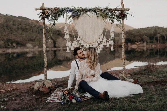 Wedding Backdrop Boho wedding backdrop wedding decor ideas   Etsy