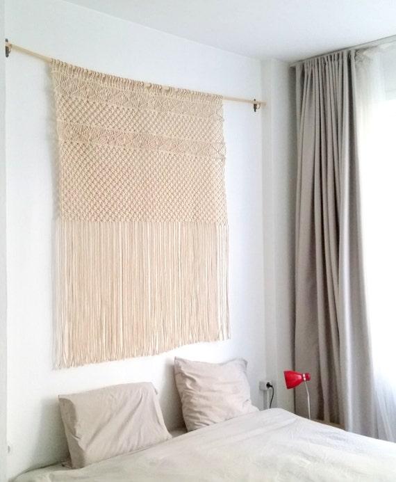 suspension en macram grande t te de lit en macram etsy. Black Bedroom Furniture Sets. Home Design Ideas