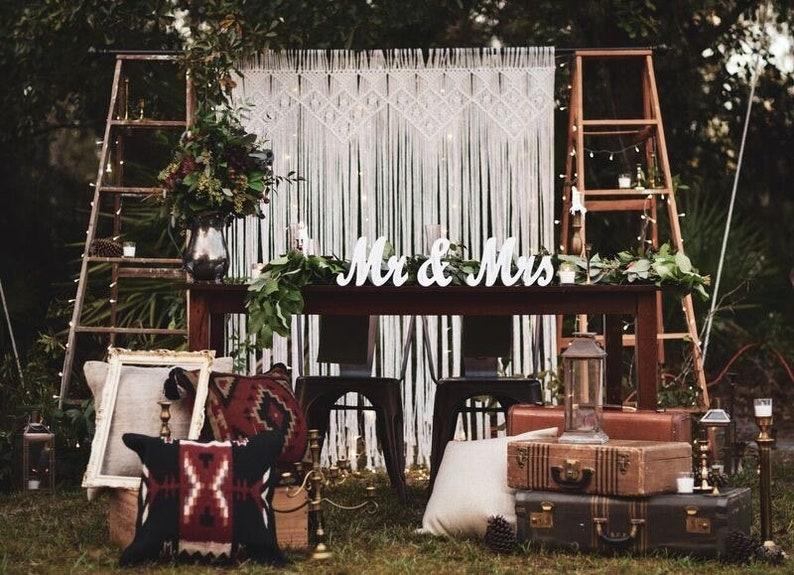 Boho Wedding Decor.Rustic Wedding Backdrop Macrame Wedding Decor Macrame Boho Wedding Decor Hippie Wedding