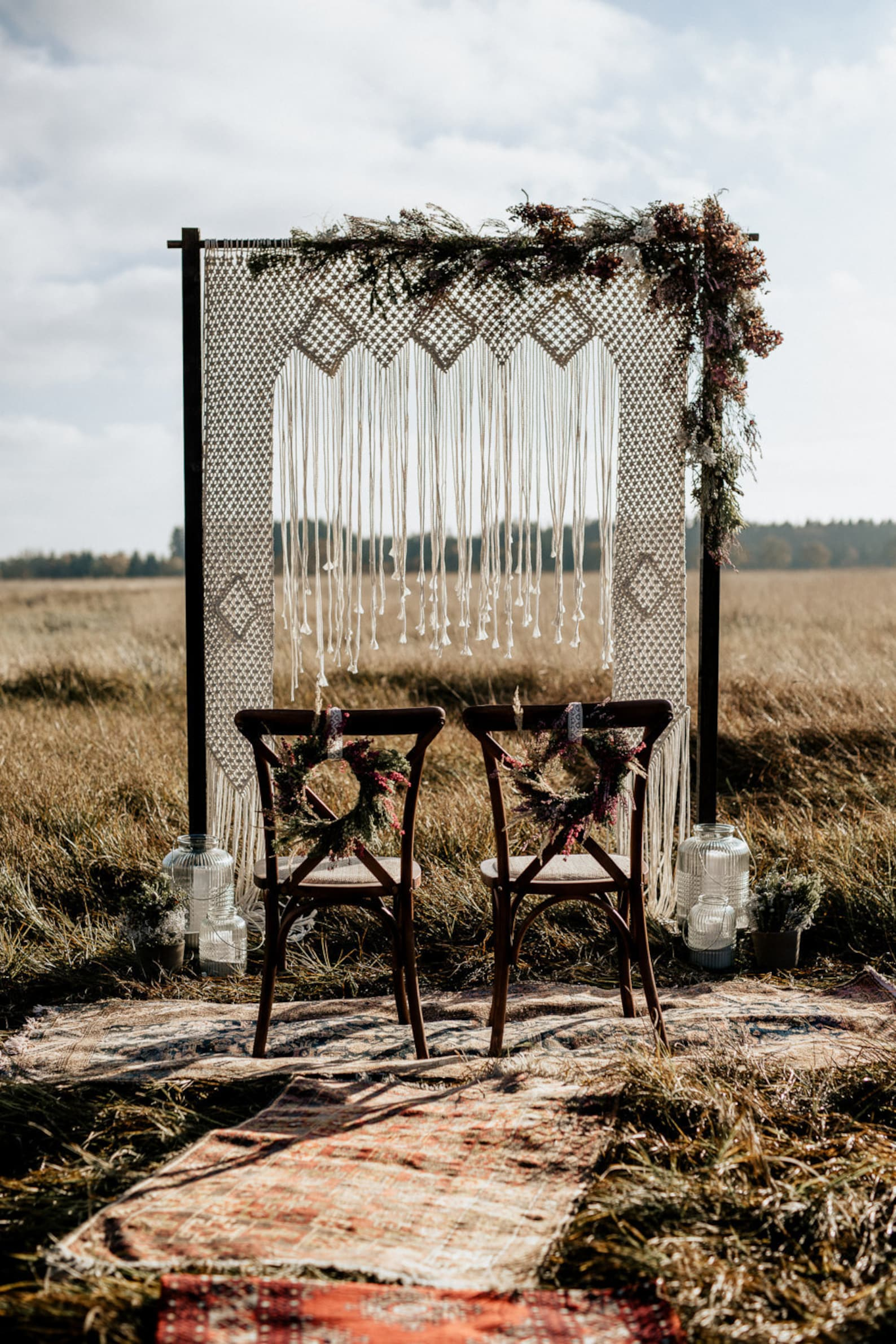 Boho Backdrop Hochzeitsbogen
