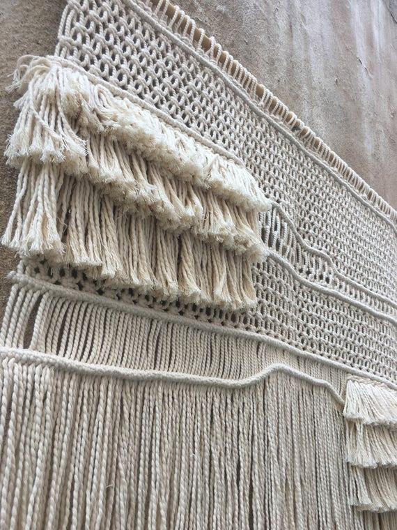 Moderne makramee wandbehang boho home decor wandteppich etsy - Makramee wandbehang ...