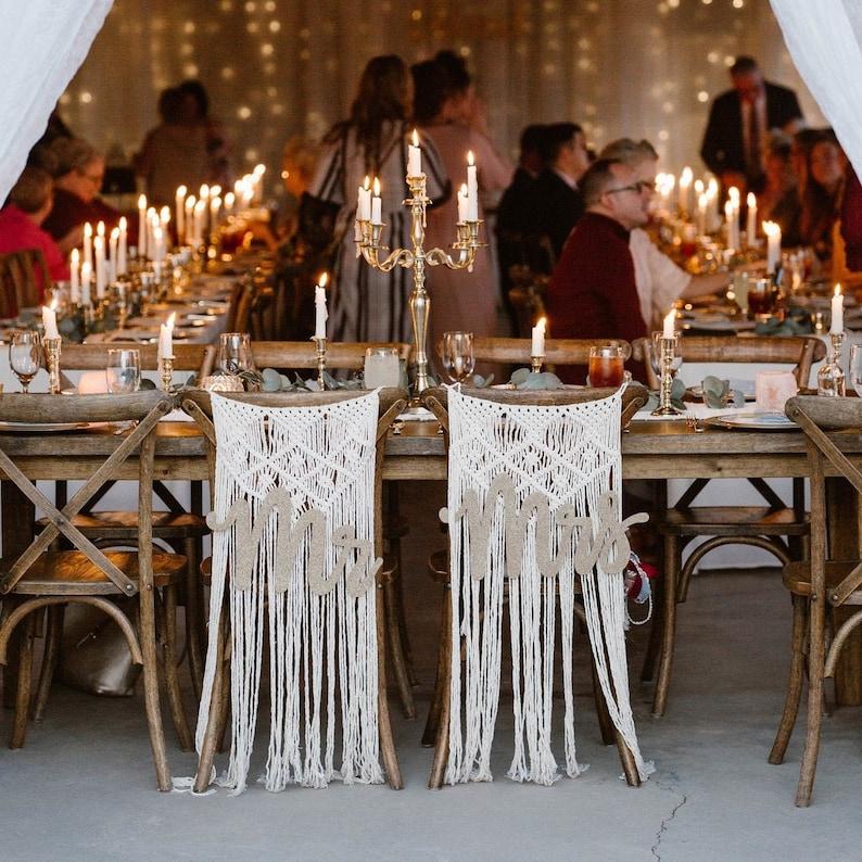 Makramee Stuhldeko Hochzeit
