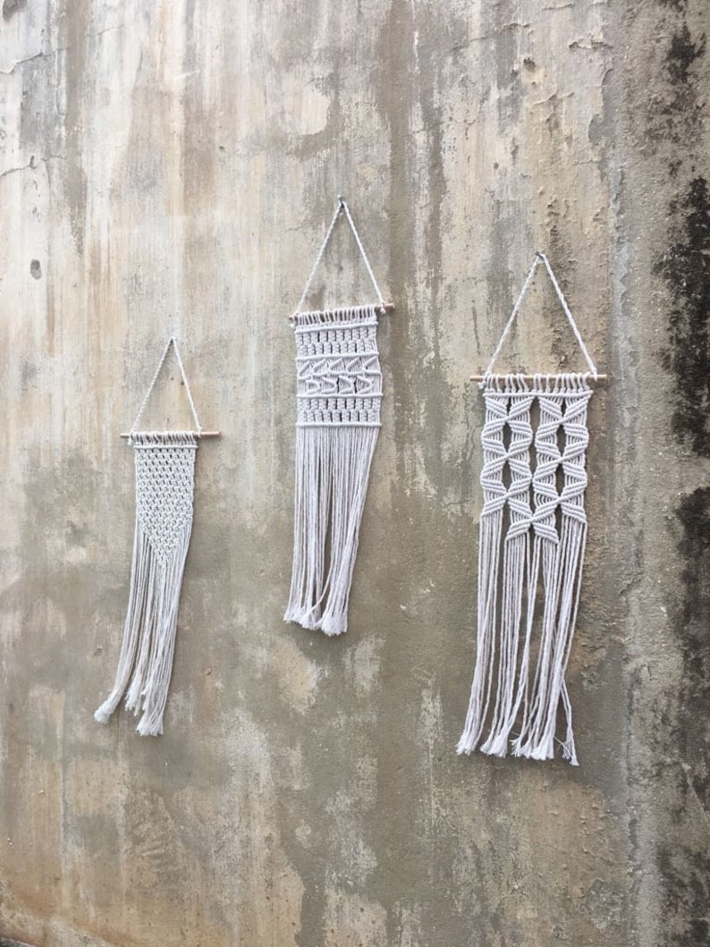 Macrame Wall Hangings Gift Set Of 3 For Her Gifts Women Wholesale Home Decor Knot