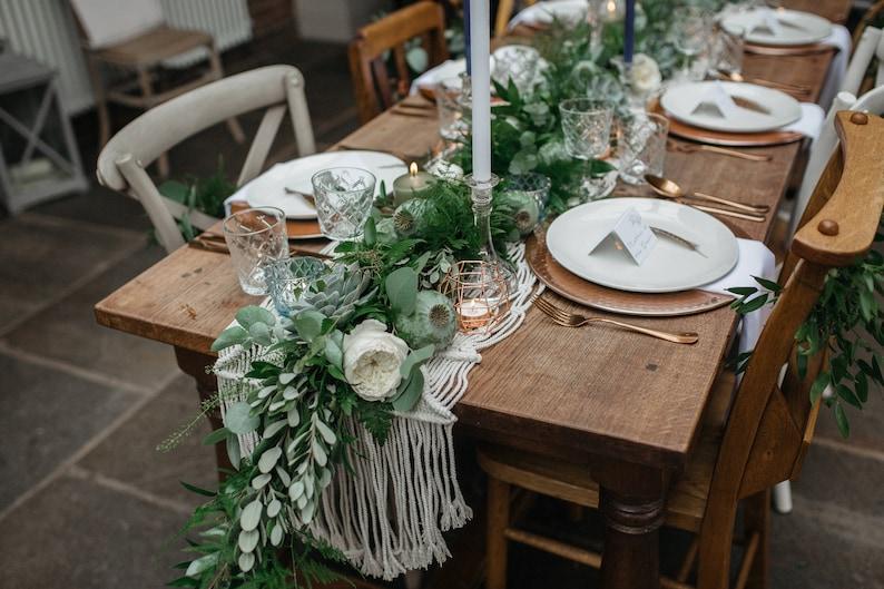 Boho Wedding Decor.Christmas Table Decoration Macrame Runner Boho Wedding Decor