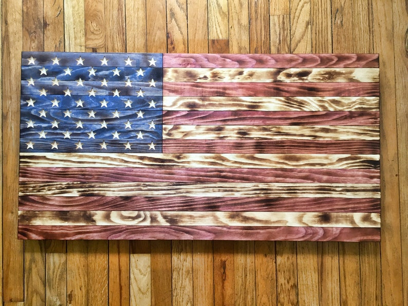1dbd0dc1760 Wood American Flag USA wood flag patriotic art rustic