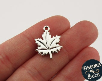Maple Leaf design 5.5 x 5.5 mm stamp for silver jewelry and name charms