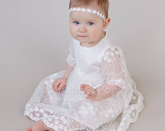 baptism dress etsy