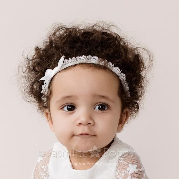 Bébé Fille Bandeau petit nœud Skinny élastique cheveux Accessoires Baptême lot