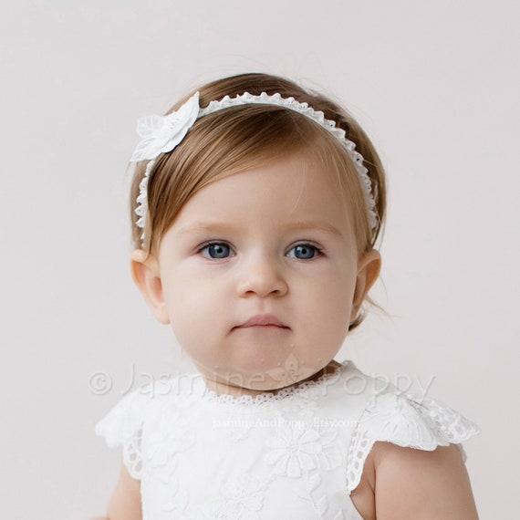 Taufe Stirnband Für Mädchen Baby Stirnband Taufe Stirnband Einzelne Blumenstirnband