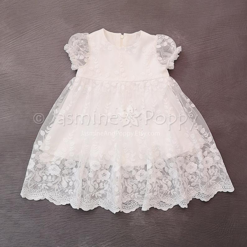 2d365fb8e59c Baby girl christening dress christening gown baptism dress