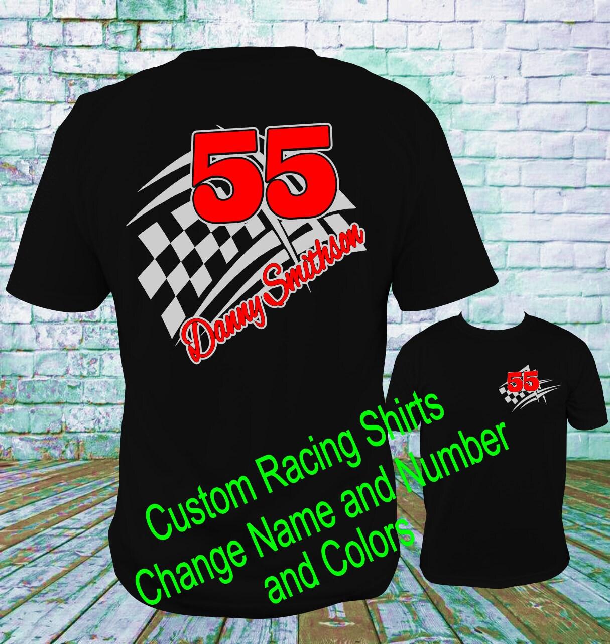Custom Personalized Racing Shirts Design 1 Dirt Track Racing Etsy
