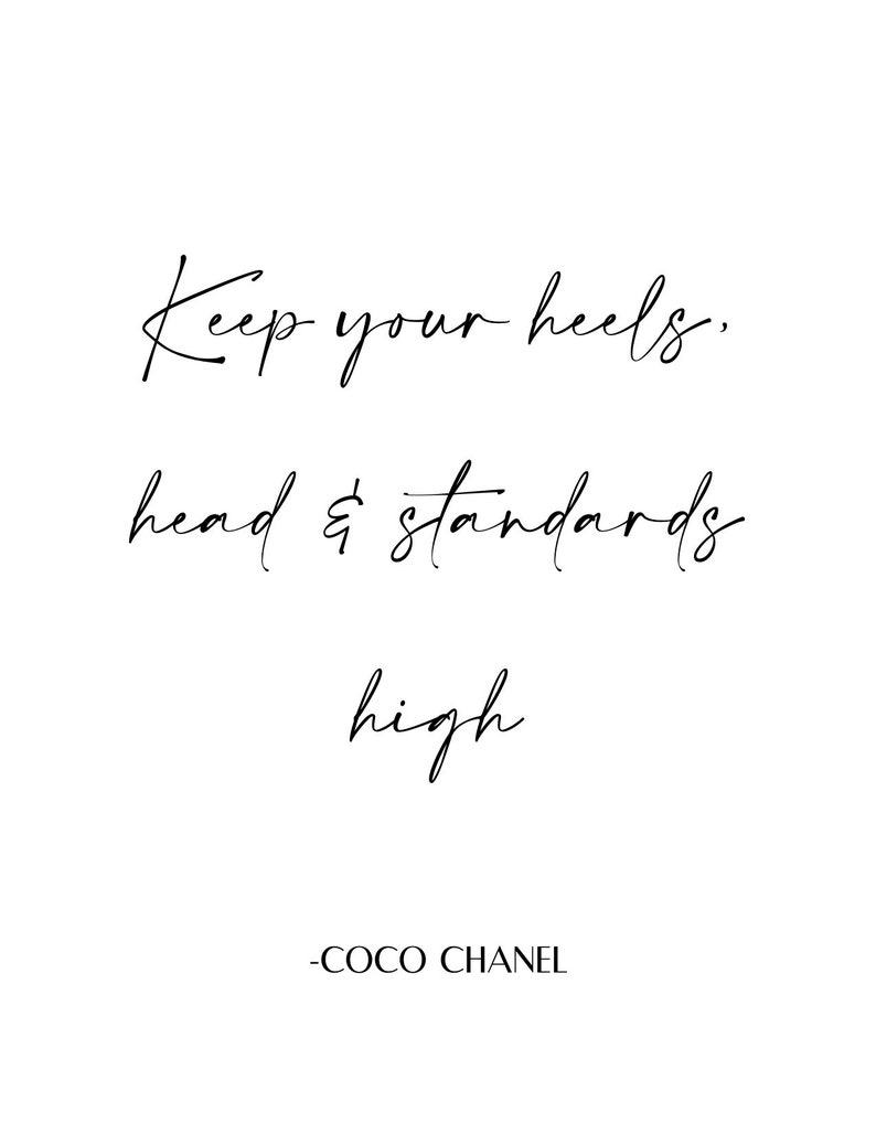 Keep your heels head and standards high instant download image 0